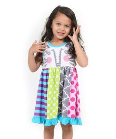 Love this Blue Woodland Friends Circus Tiger Dress - Toddler & Girls on #zulily! #zulilyfinds