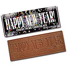 Happy New Year 2x5 Chocolate Bar