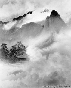 Lang Jingshan 郎静山 Rinko Kawauchi, Fan Ho, Hiroshi Sugimoto, Famous Photographers, Ink Painting, Chinese, Clouds, Asian, Nature