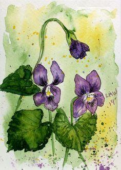Pen & Ink Watercolor Card {try it, it's easy!}