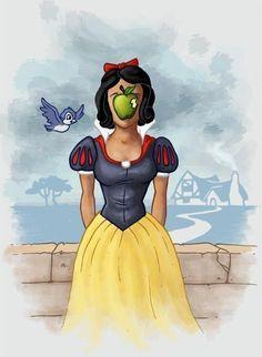 Magritte parody: Snow White