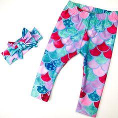 LIMITED EDITION Mermaid Baby Girl Outfit Mermaid Leggings