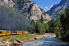 Scenic train ride on the Silverton/Durango train Silverton Colorado, Silverton Train, Durango Colorado, The Places Youll Go, Places To See, Places To Travel, Travel Destinations, Scenic Train Rides, Colorado Homes