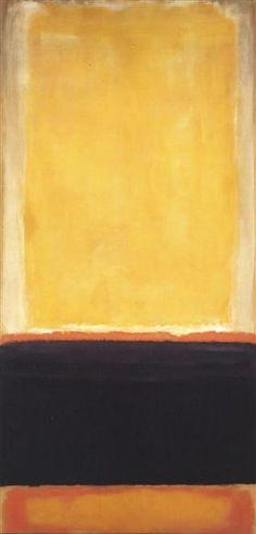 Yellow, Charcoal, Brown - Mark Rothko