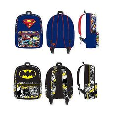 Personalized Batman Superman Backpacks
