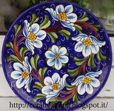 Hand-painted ceramic wall plates Fauna and Flora are two terms frequently heard by those who spend amount of time in … Blue Pottery, Pottery Plates, Ceramic Pottery, Pottery Art, Pottery Painting, Ceramic Painting, Ceramic Art, Ceramic Design, Ceramic Wall Tiles