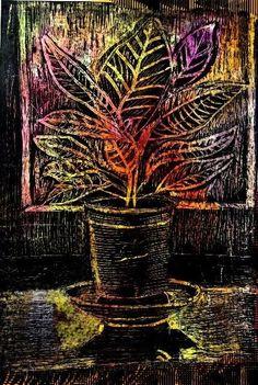 Cuáles+Son+Las+Grandes+Técnicas+De+Pintura+Esgrafiado+¿Quieres+Conocerlas? Drawing Lessons For Kids, Art Lessons, Black Canvas Paintings, Black Paper Drawing, Scratchboard Art, 6th Grade Art, Scratch Art, School Art Projects, Unusual Art