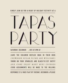 """""""Slide down"""" tapas party"""