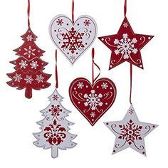 Wooden Scandinavian Style Christmas Tree Decorations More