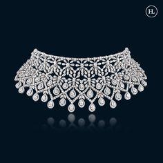 Real Diamond Necklace, Diamond Jewelry, Hazoorilal Jewellers, Ancient Jewelry, Luxury Jewelry, Necklace Designs, Beautiful Necklaces, Jewelry Design, Jewels