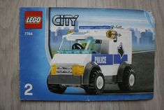 Lego 7744 INSTRUCTION BOOK City Police Headquarters Dog Van BOOK TWO #Lego Lego Instruction Books, Book City, Lego Instructions, Lego Building, Police, Van, Dogs, Pet Dogs, Doggies