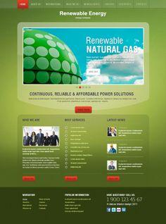 Renewable Energy Energy Company Joomla Template by Dynamic Template