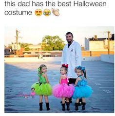Powerpuff girls and the professor. Too cute of a Halloween costume ! Cute Costumes, Halloween Costumes For Girls, Halloween Cosplay, Girl Costumes, Halloween Kids, Cosplay Costumes, Costume Ideas, Halloween 2016, Creative Costumes