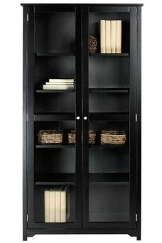 """Oxford 36""""w 6 shelf Bookcase With Glass Doors, SIX SHELF/36, BLACK by Home Decorators Collection. $359.00. Assembly required.. 72""""H x 36""""W x 13.5""""D.. Provide ample storage in any room for books, DVDs, CDs, photos and more with the Oxford Bookcase. Made to last, this furniture will withstand everyday wear and features a casual yet elegant design that's perfect for many different styles of home decorating. Start enjoying this bookshelf in your room; buy today.Pewter-fi..."""