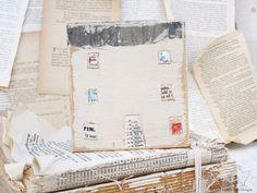 Art Block Mixed Media Sculpture Reclaimed by cottonbirddesigns, £18.00