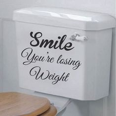 Love your walls with the You're Losing Weight Toilet Decal Trendy Wall Designs! The You're Losing Weight Toilet Decal Art Sticker is easy to install, doesn't hurt wall paint, and is sure you brighten things! Buy the You're Losing Weight Toilet Decal Funny Bathroom Decor, Bathroom Wall Art, Bathroom Humor, Design Bathroom, Funny Bathroom Quotes, Bathroom Wall Stickers, Shiplap Bathroom, Bathroom Kids, Toilet Quotes
