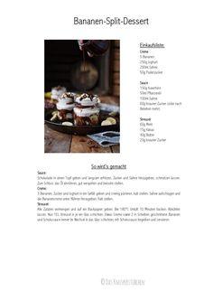 bananen-split-dessert-rezept-001 Winter Desserts, Party Desserts, Healthy Desserts, Dessert Banana Split, Mousse Dessert, Thermomix Desserts, Recipe From Scratch, Famous Last Words, Recipes For Beginners
