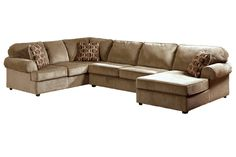 This great sectional by Ashley can seat your whole family!  Dosen't looking at it make you want to cuddle up on it?