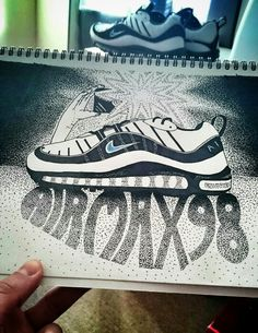 I couldnt resist, i had to do a drawing of my favourite air max of all time, it would be rude not to! #nike #airmax #sneakerhead #sneakers #kicks #trainers #art #design #typography #shading