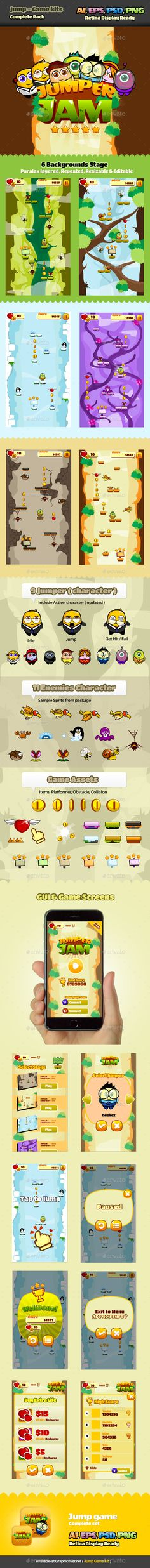 Jump Game Kits - Game #Kits #Game #Assets | Download http://graphicriver.net/item/jump-game-kits/9998158?ref=sinzo