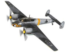 The Corgi Bf110 C-4/B, Schnell Kampf Geschwader 210, Russian Front 1941, is a diecast model plane in the Corgi WW2 - Aviation Archive (Limited Edition) range.    One of the most famous of the Messerschmitt Bf110 units, Geschwader 210 adorned their machines with a very recognisable emblem on the nose of their aircraft. The 'Waspen Staffel' as they became known, operated on all fronts during the Second World War, from the arid North African front to the bleak winter tundra of the Russian…