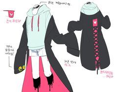 Anime Outfits, Cool Outfits, Fashion Outfits, Manga Clothes, Drawing Anime Clothes, Fashion Design Drawings, Fashion Sketches, Kleidung Design, Clothing Sketches