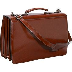Jack Georges Elements Collection Triple Gusset Flap Over Briefcase