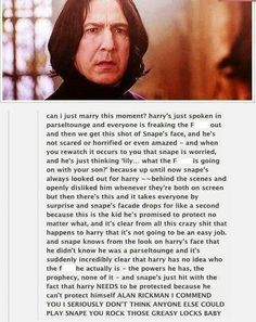 Snape. headcanon accepted