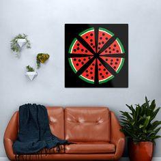 """Watermelon Slices"" Metal Print by Pultzar   Redbubble"