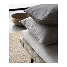 SINNERLIG Housse de coussin, rayure noir, blanc - IKEA