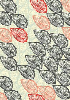 Oriental Leaf 1, pattern design by The Print Tree / Susan Driscoll, via Flickr