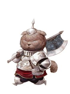 Scottish Fold Warrior / Featuring the art of Kyuong Hwan Kim: https://www.artstation.com/artwork/rXNWe