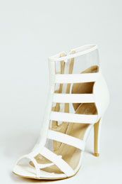 Shirley Strappy Perspex Shoe Boots