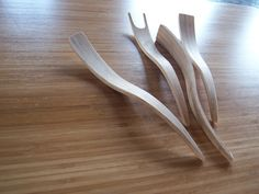 Bamboo contemporary serving utensils