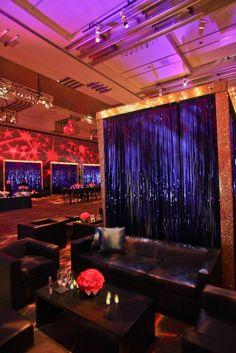 Black Leather Lounge at The Incredible Burt Wonderstone premiere| Black Landon collection from Designer8* Event Furniture Rental designer8furniturerental.com