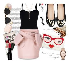 """""""Yes Please..."""" by unamiradaatuarmario on Polyvore featuring Essie, Sephora Collection, H&M, Kate Spade, Nixon, Sigma Beauty, Smashbox, Baguette....., Simone Rocha and Michael Kors"""