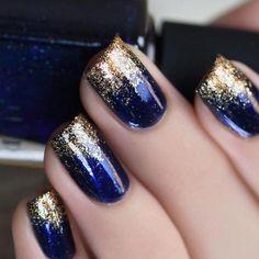 + 77 designs for trendy gel nails polish colors 2018 creative nails, blue gold nails Gel Nail Polish Colors, Nail Colors, Pedicure Colors, Toe Nail Polish, Blue Colors, Pastel Colors, Stylish Nails, Trendy Nails, Elegant Nails