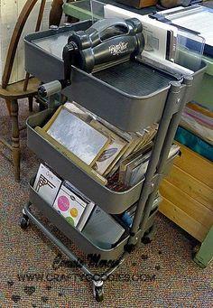 crafty goodies: Try It Tuesday~Raskog cart from Ikea**rocks*** 21 Ways to Use A Raskog Cart To Organize Scrapbook Supplies – Scrap Booking