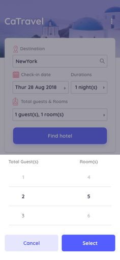 #selectionscreen #hotelbooking #travelbooking #appdesign #uikit #uidesign #mobileapp #travelcollection Hotel Booking App, Push Away, App Design Inspiration, Happy We, Adobe Xd, Mobile App Design, Find Hotels, Ui Kit, App Ui