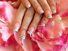 Nail Art Photo Taken at:30/08/2013 12:33:49 Nail Art Photo Uploaded at:07/10/2013 07:49:43 Nail Technician:Joanne Duckmanton Description: Acrylic nails with black free hand nail art ,pink flowers  @ www.eyecandynails.co.uk
