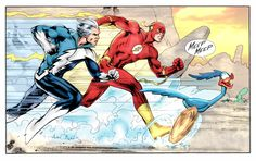 mostly comic art — Quicksilver vs. The Flash vs. The Road Runner by...