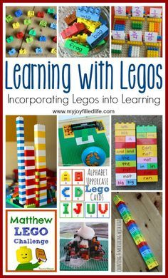 Learning with Legos - Incorporating Legos into Learning Lego Activities, Kindergarten Activities, Educational Activities, Lego Games, Summer Activities, Home Learning, Kids Learning, Lego Classroom Theme, Lego Math