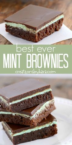 Best Ever Mint Brownies - fudgy brownies with a creamy mint layer topped with me. Best Ever Mint Brownies - fudgy brownies with a creamy mint layer topped with melted chocolate. Everyone goes crazy for these Mint Brownies! Brownie Cookies, Brownie Fondant, Cookie Dough Cake, Chocolate Chip Cookie Dough, Chip Cookies, Blondie Brownies, Fudgy Brownies, Chocolate Brownies, Chocolate Desserts