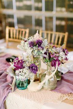 Swoon Worthy Rustic Chic Purple Wedding Decor
