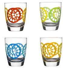 """Juicy"" drinking glasses by designer Lotta Odelius"