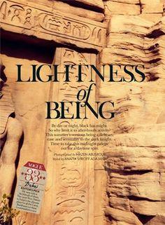 """Lightness of Being"" Eva Doll for Vogue India April 2015"