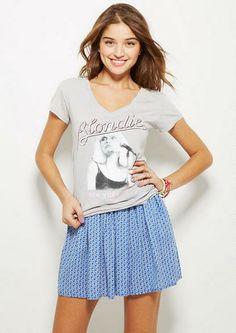 Printed Skater Skirt in Geo Print - Skirts - Clothing - dELiA*s
