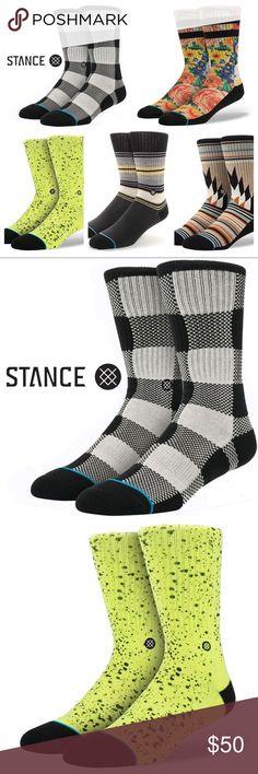 5 Pairs Mens Boys Stance Socks Medium 6-8.5 Hot! 5 Pairs of Men's Boys Medium 6 - 8.5 Stance Socks $62  Sock Designs Names: - Clemente - Sonic Garden - Overspray - Toledo - Hanover Stance Underwear & Socks Casual Socks