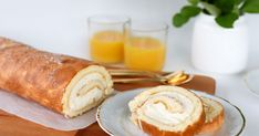 Appelsiinikääretorttu täytetään appelsiinin makuisella tuorejuustolla ja marmeladilla. Kääretorttu on herkullinen ja valmistuu nopeasti. Kurkkaa hurmaava resepti ja leivo kahvipöytään lempeän makuinen herkku! Koti, Dairy, Cheese