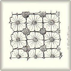 Zentangle-Pattern 'CB5' by Neil Burley, presented by www.ElaToRium.de